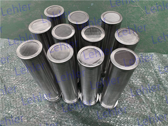 500 Micron Wedge Wire Screen Filter , Stainless Steel Wedge Wire Sieve Filter